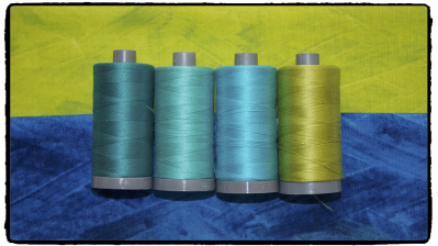 AURIfil Thread with Frond Design Studios Fabric