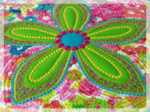 Fantasy Flowers Quilted in the Hoop