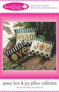 Peace Love and Joy Pillows Front