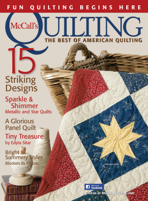 McCall's Quilting May June 2015
