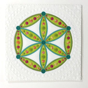 Flower of Life Block Quilted in the Hoop