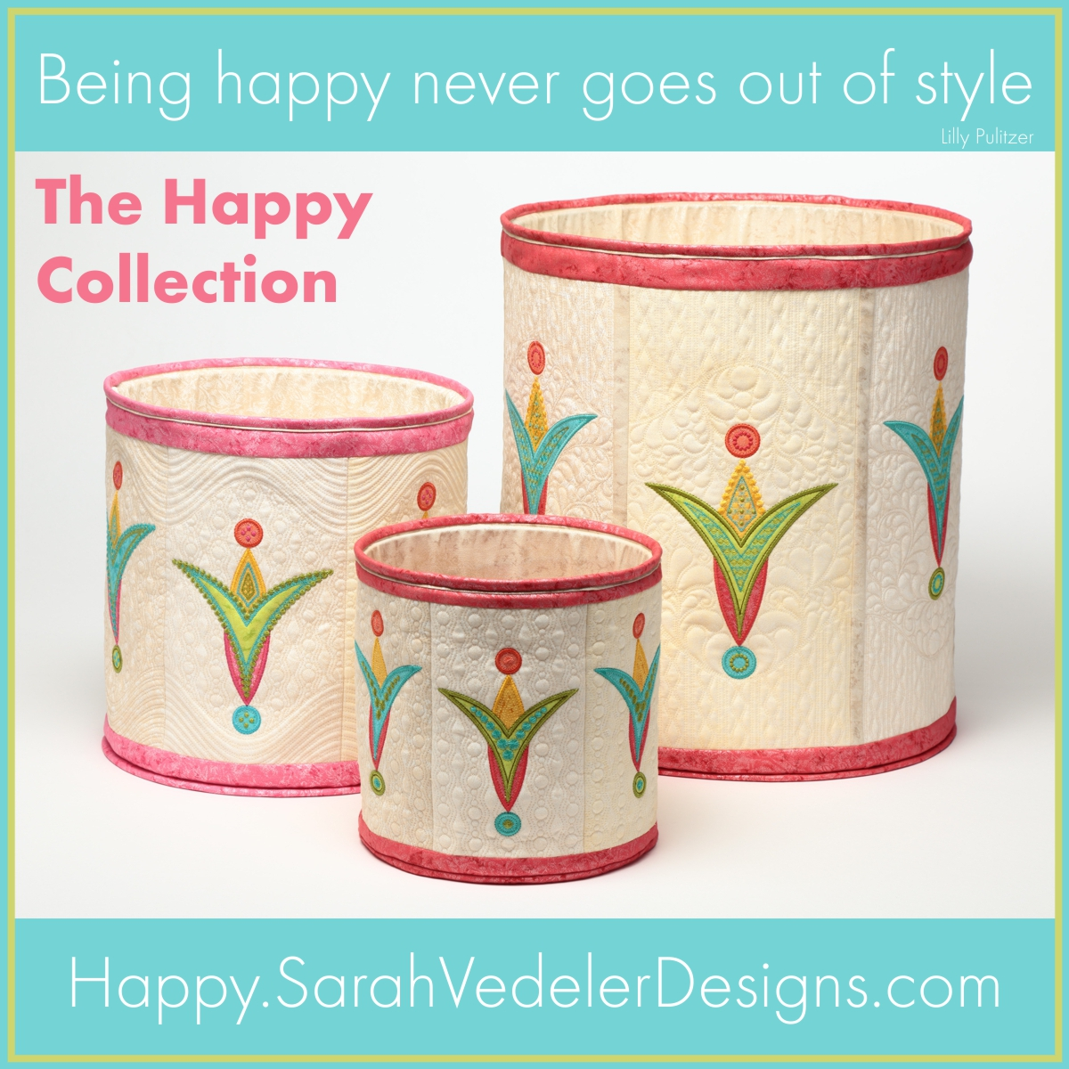 Happy Collection Vip Machine Embroidered Applique By