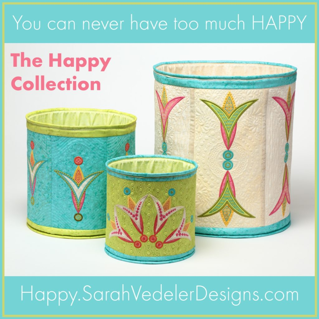 You can never have too much happy - The Happy Collection by Sarah Vedeler Designs