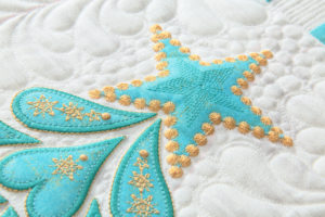 Feathered Christmas with Embroidered Applique