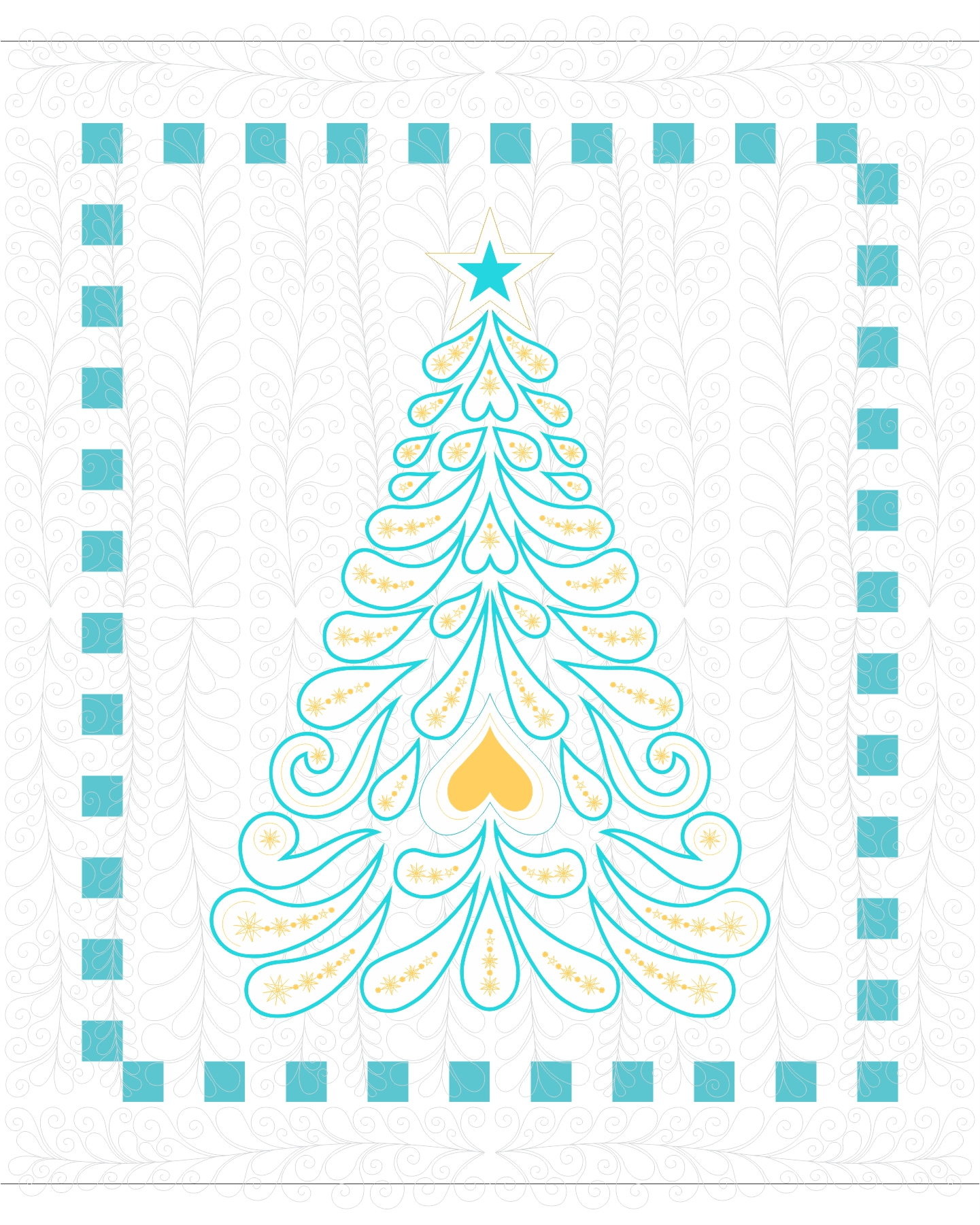 How to quilt the Feathered Christmas quilt - Machine Embroidered ...