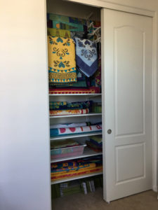 IKEA ALGOT rails for hanging quilts