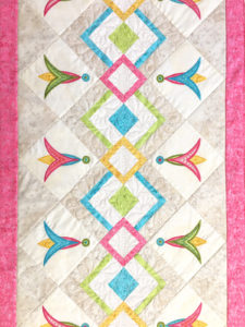 Quilting the Happy Table Runner