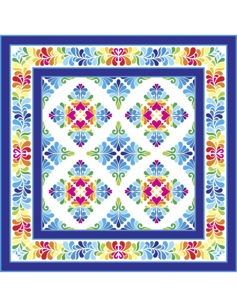 Jean's Heather Feather Border quilt v2
