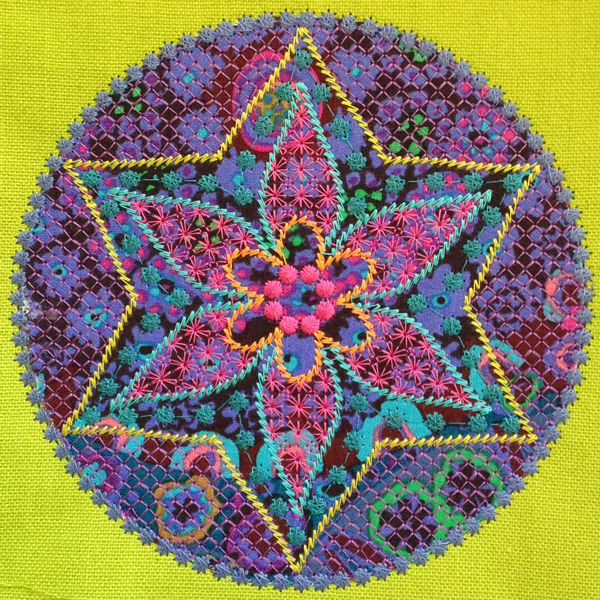 Jewel with Kaffe Fassett fabric